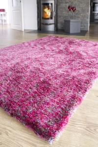 Hochflor Teppich Shaggy Langfloorteppich Pink Wellness von Reinkemeier