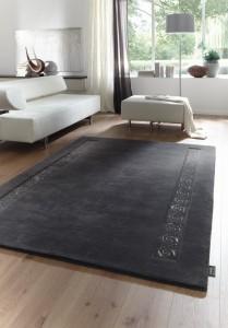 Teppich mit Swarovski Steinen in anthrazit der Marke LUXOR Living