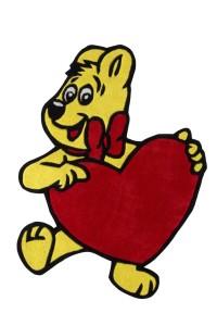 Haribo Goldbär Handtuft Kinderteppich von Reinkemeier