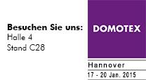 DOMOTEX Messe Logo Januar 2015 Stand von Reinkemeier-Rietberg