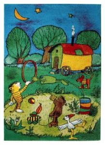 Janosch Teppich Zirkus Panama Kinderteppich von Reinkemeier
