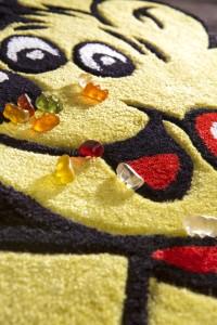 HARIBO Teppich Kinderteppich Goldbär Detail von Reinkemeier