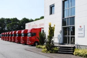 Eingangsbereich des Reinkemeier Logistik Gebäudes am Standort in Rietberg