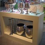 Ladenbau Reinkemeier offene Box mit beleuchteter Glasfläche