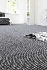 Teppichboden Schlingen Qualität in Grau und Anthrazit